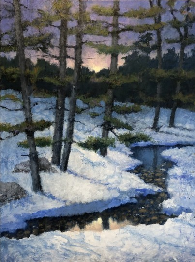 Winter Trout Stream (georgemarksfineart.com)