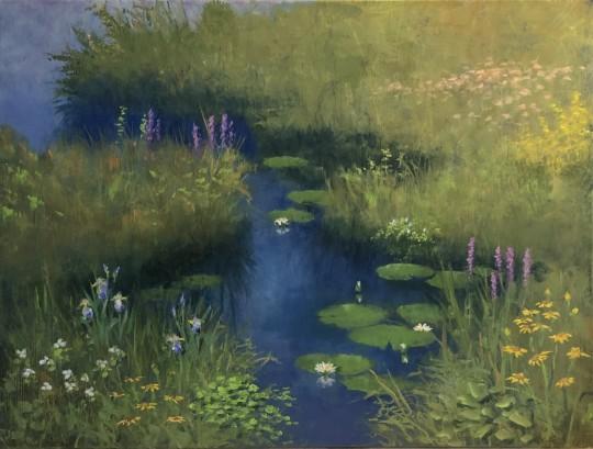 Wild Flower Water Garden (georgemarksfineart.com)