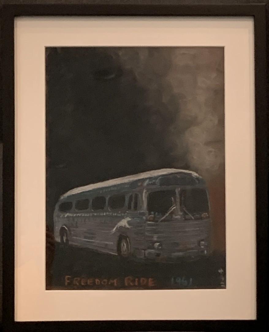 Freedom Ride 1961 - artwork by Yuko Frost: