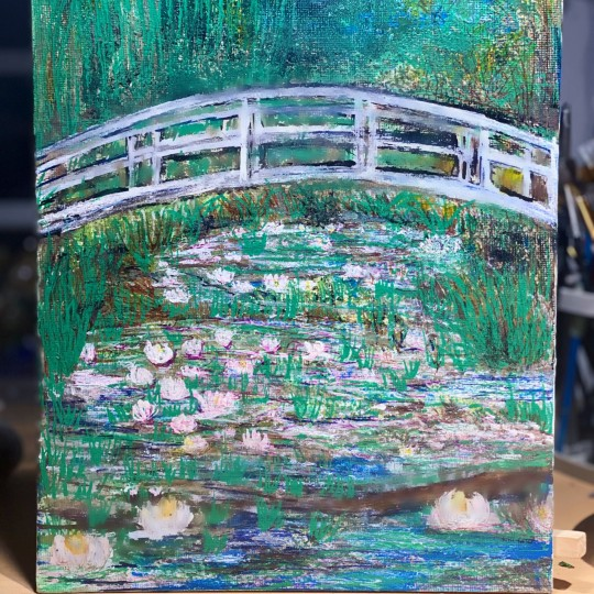 Water Lilly Pond -Monet Inspired