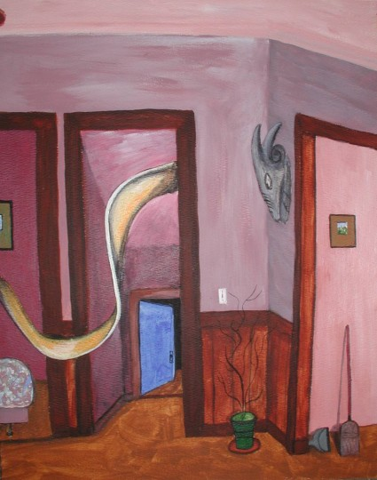 Interior with Mexican Mask