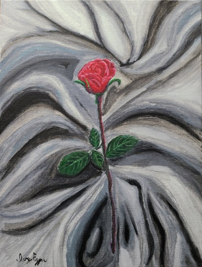 Rose on the Gray