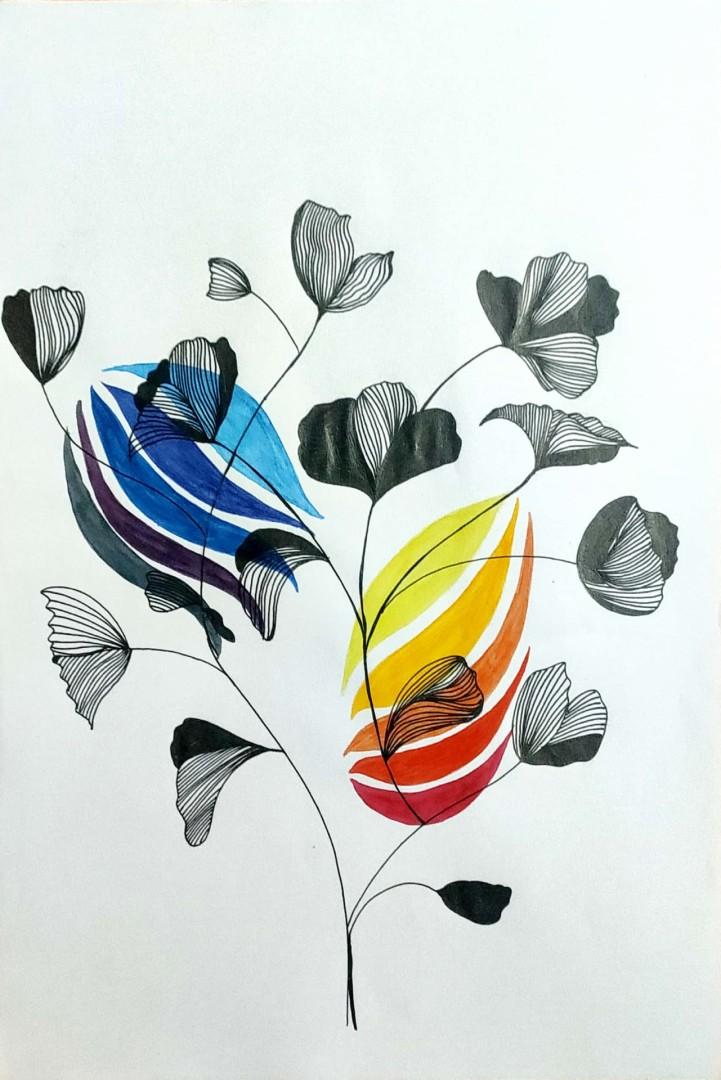 Line Art - artwork by Rishika Rashi: line art, art, arte, artist, line, color, beauty Abstract, Other, Pen & Ink, Other