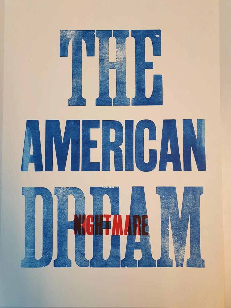 The American dream/nightmare - artwork by Daniel  Tim Johnson: