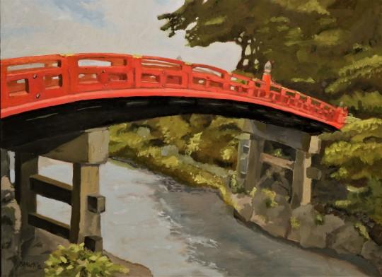 The Red Bridge Nikko Japan