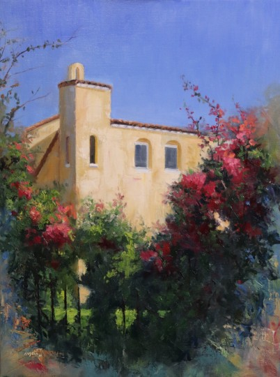 The House Among the bougainvillea