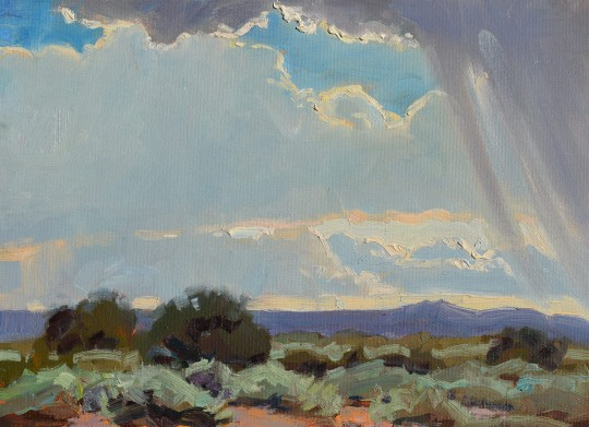 Rain Over Taos Plain