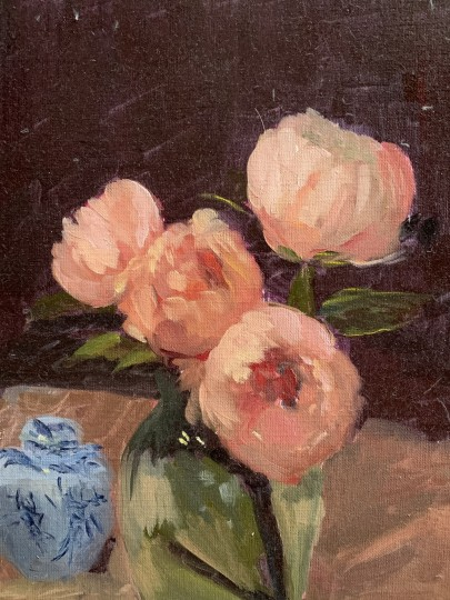 Peonies with Ginger Jar