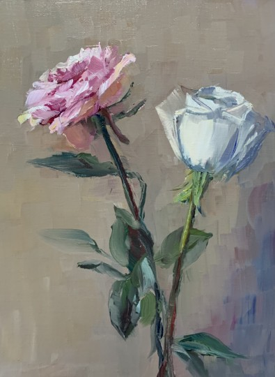 Study of Two Roses
