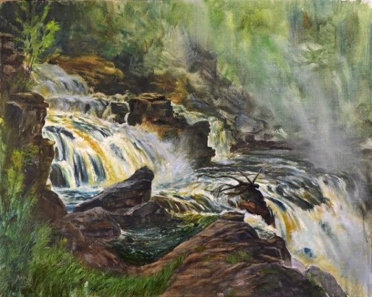 Her Beauty and Power, (painting at St. Regis Falls)
