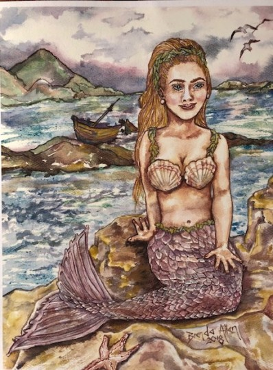 Mermaid with Shipwreck