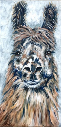 Llama with Prussian Blue