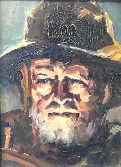 Miniture oil portrait