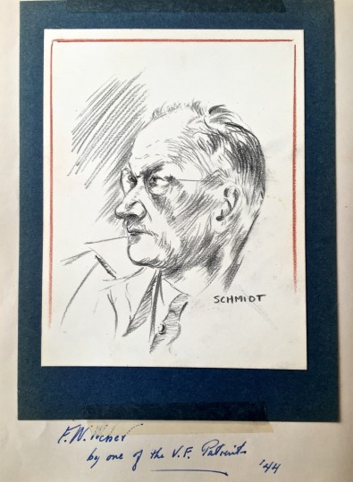 Drawings of the Artist by Wm. Schmidt, one of the V. F. Patriots