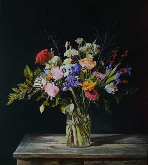 Colorful flower still life