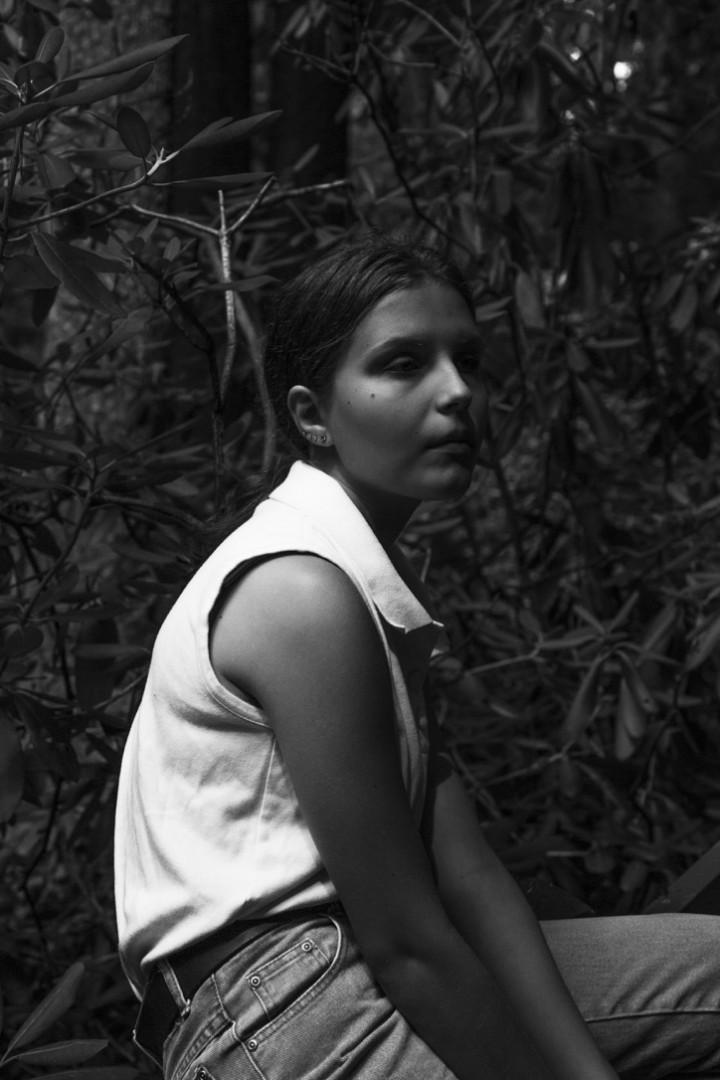Leah (in black and white) - artwork by Sophia Singer Singer:  Portraits, Photography Digital,