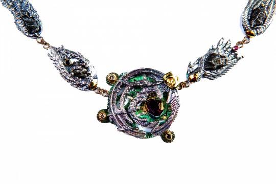Meteorite Necklace, detail