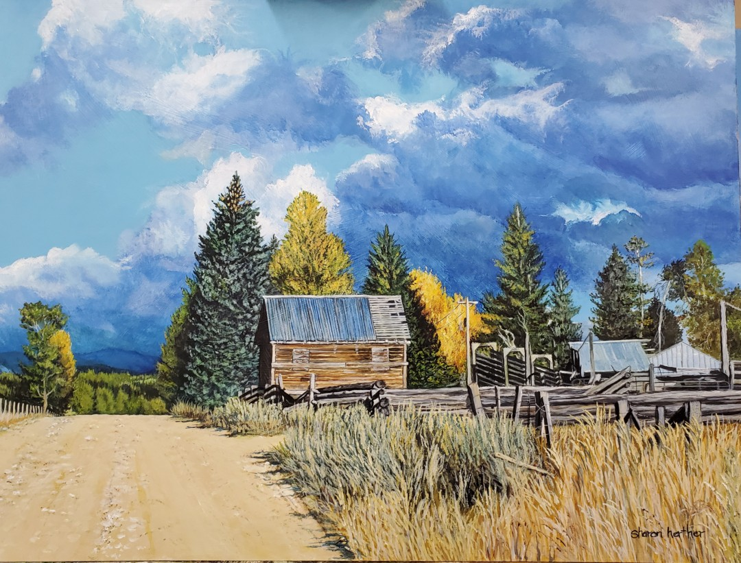 Purdom Place - artwork by Sharon Herther:  Architecture, Realism, Acrylic, MDF Panel