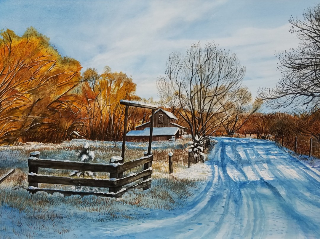 Old Meadows - artwork by Sharon Herther:  Landscape, Realism, Watercolor, Watercolor Paper
