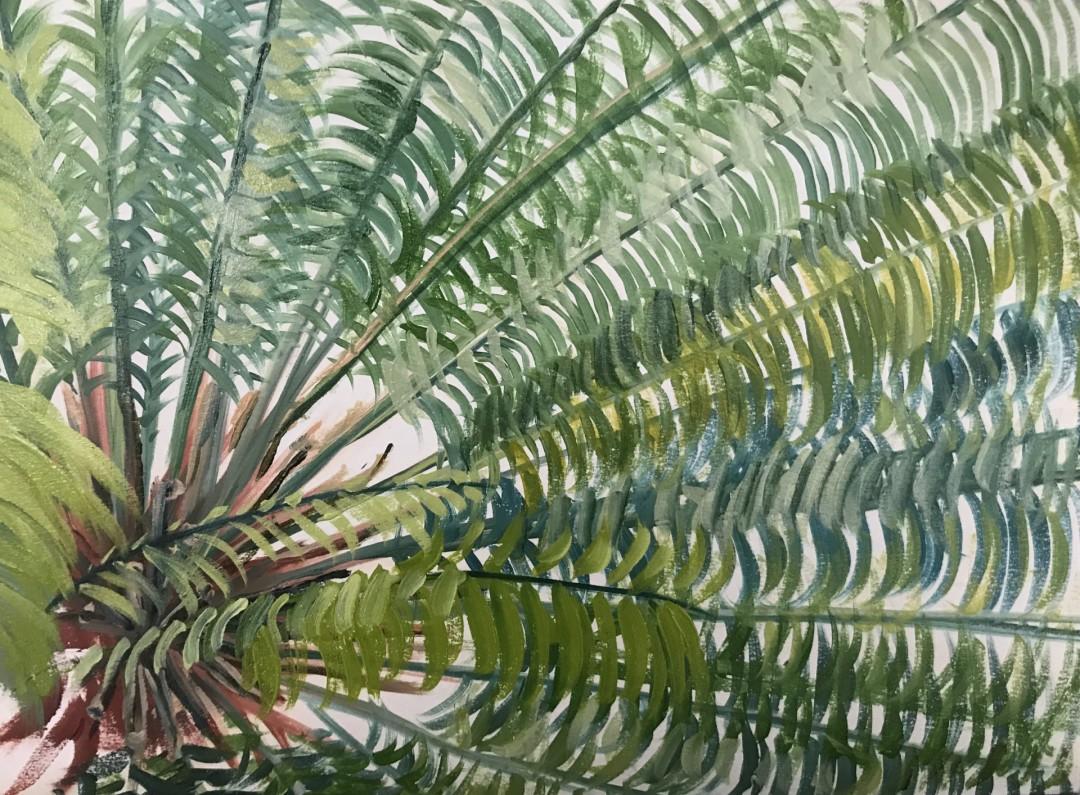 Losing Myself - artwork by Monica Pepicelli:  Landscape, Classical, Oil, Paper