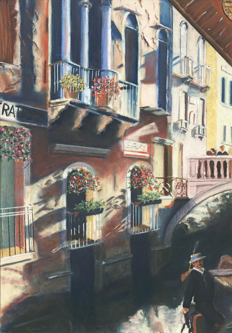 Venice - artwork by Monica Pepicelli: Venice, Architecture, Pastel Famous Places, Classical, Pastels, Paper