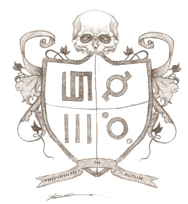 Echelon Coat of Arms - artwork by Tiney Freestone:  Music, Pencil/Colored Pencil, Paper
