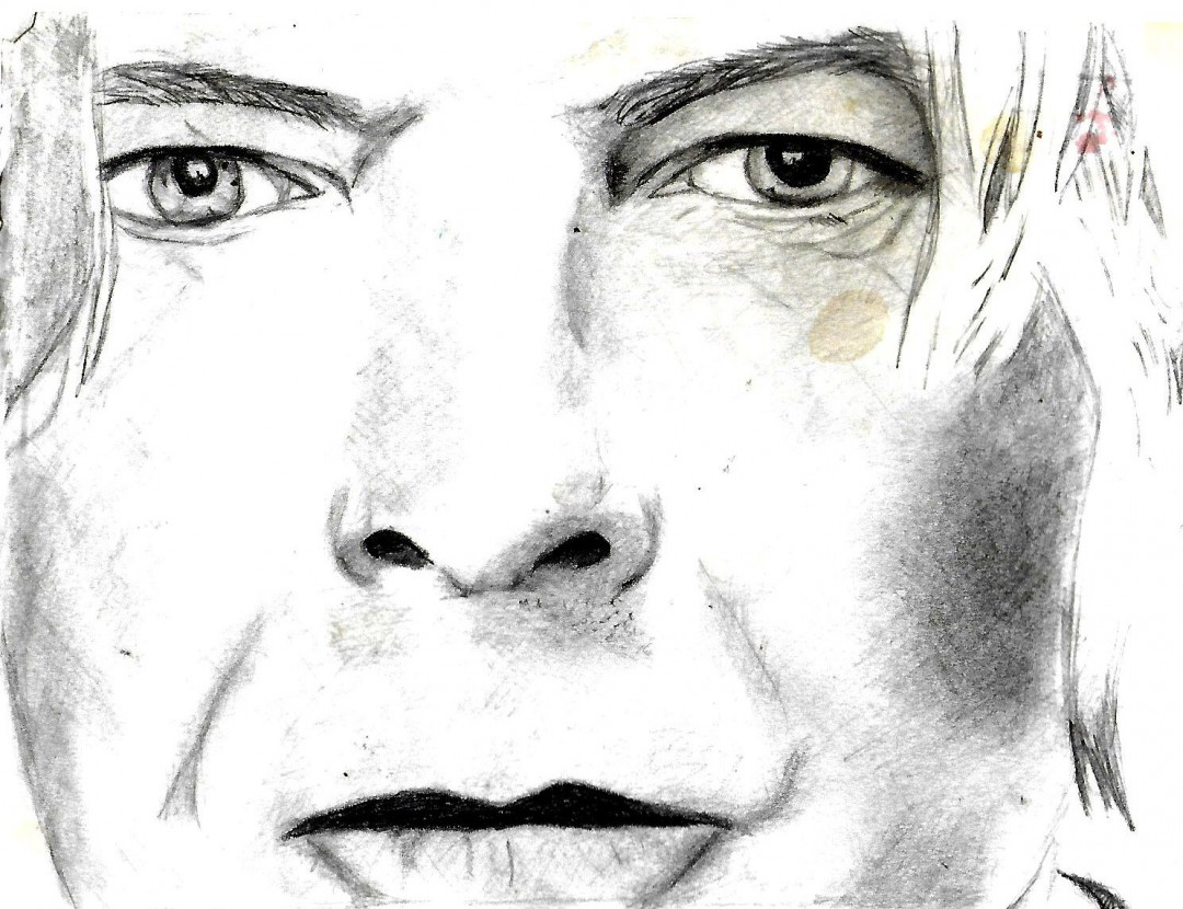 David Bowie - artwork by Tiney Freestone:  Celebrities, Realism, Pencil/Colored Pencil, Paper