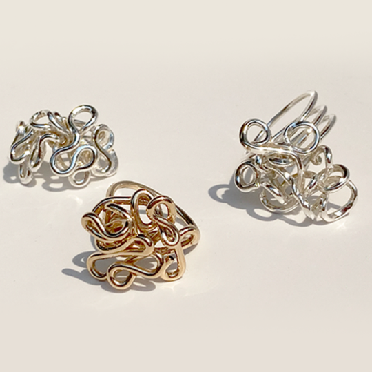 14k & Sterling Hand Sculpted Rings