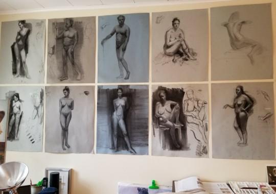 charcoal figurative studies
