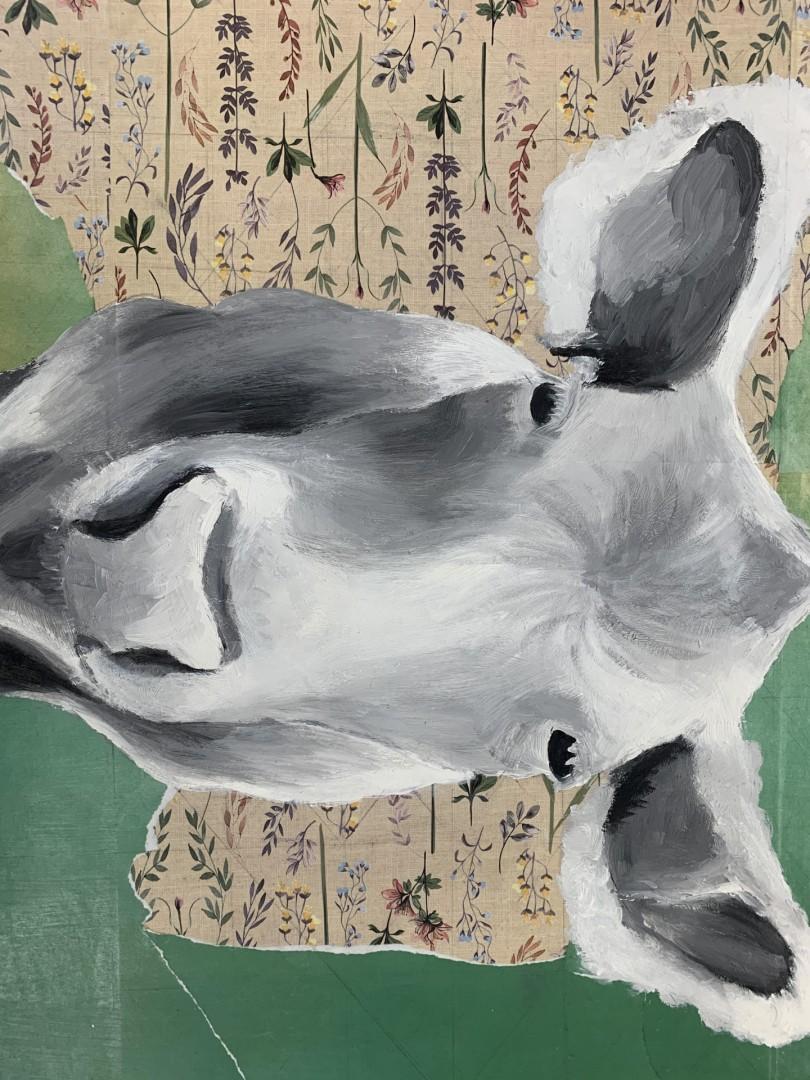 Rose  - artwork by Josie Rimkus:  Nature, Realism, Oil, Woodcut