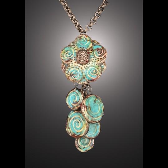 Moonlight Flower Lariat Necklace