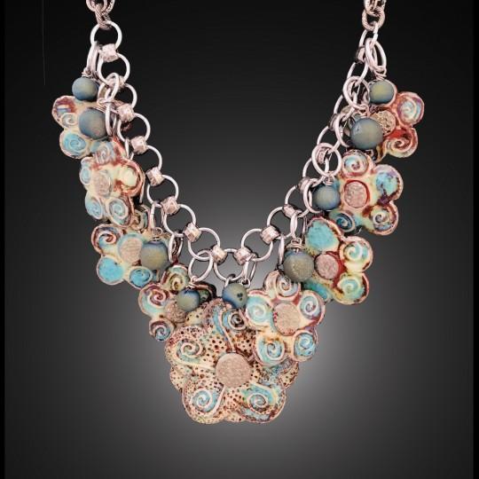 Midnight Flower Statement Necklace
