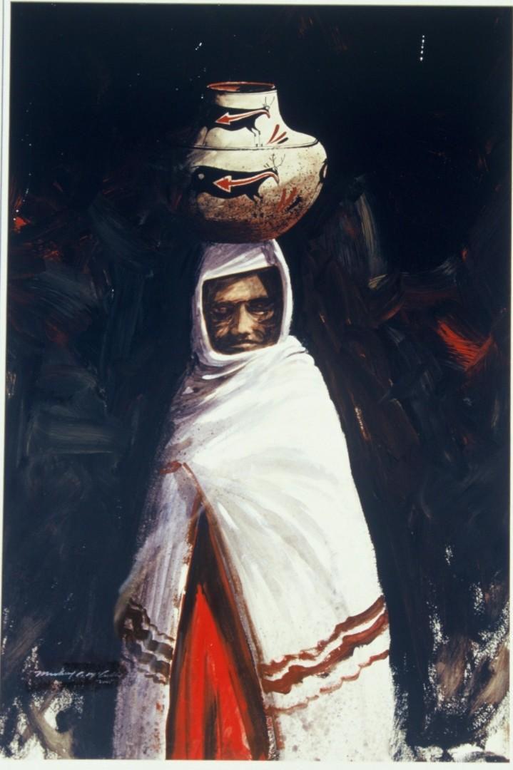 Pueblo Elders - artwork by stephen mccullough: