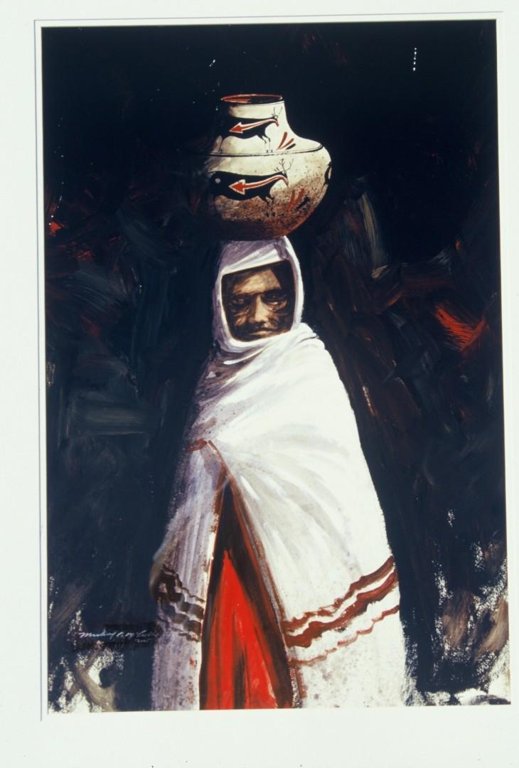 Pueblo Elder - artwork by stephen mccullough:
