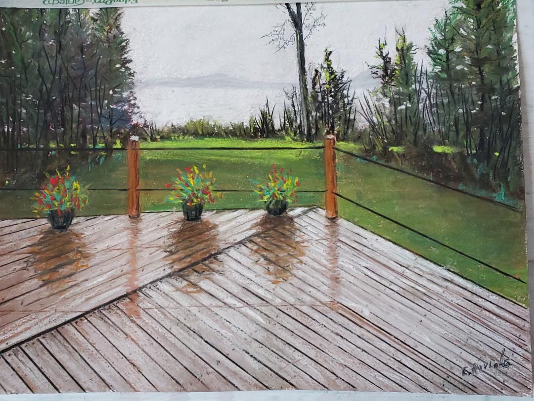 Rainy day - artwork by Carlos Arriola:
