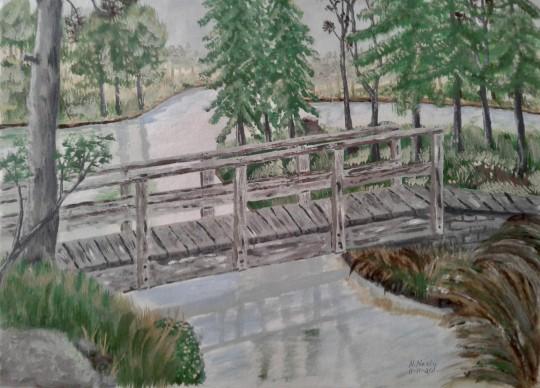 Foot Bridge Over Stream