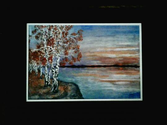 Birch Trees at Sunrise