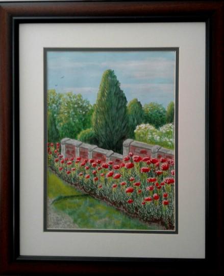 Flower Garden and Wall