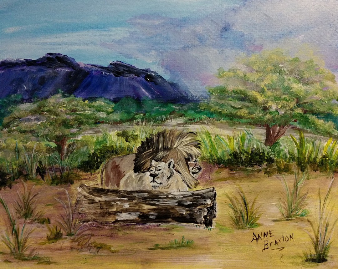Nildottie - artwork by Anne Braxton:  Landscape, Impressionism, Acrylic, Canvas