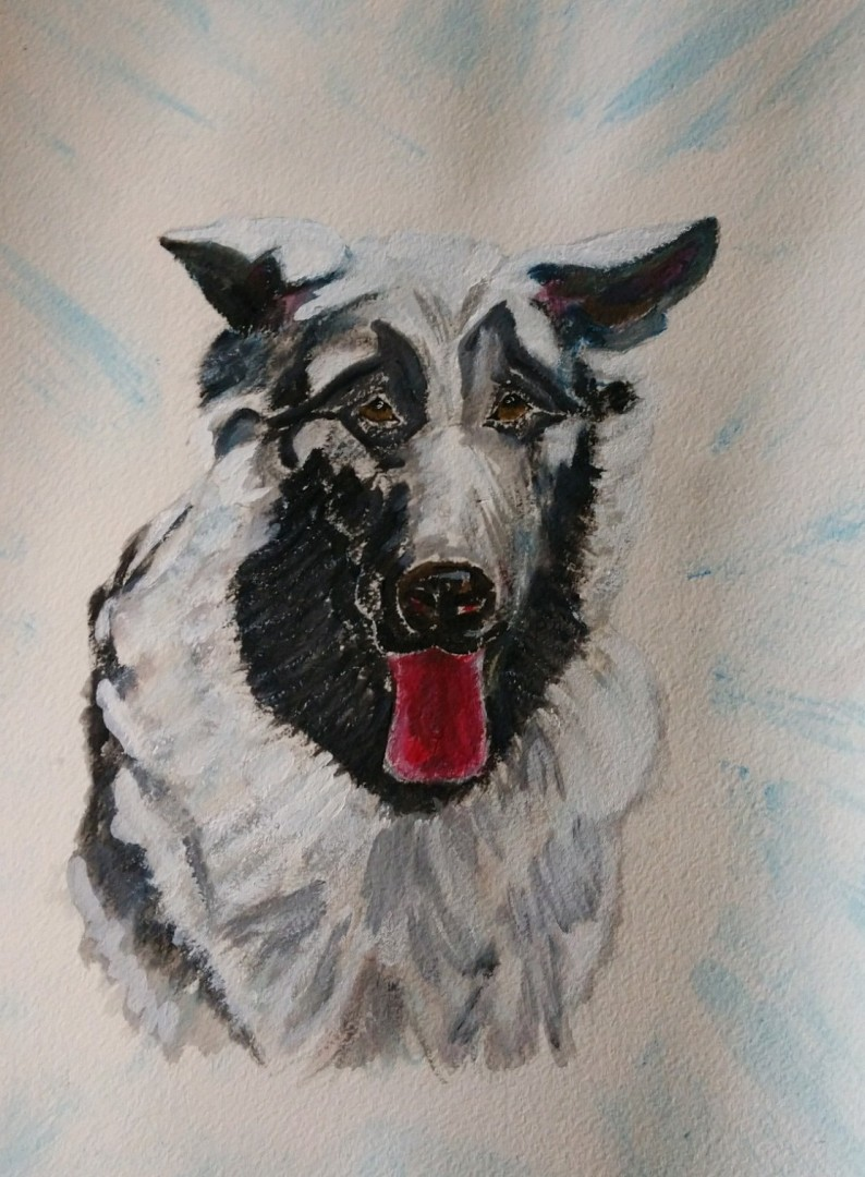 Silver - artwork by Anne Braxton:  Animals, Impressionism, Watercolor, Paper