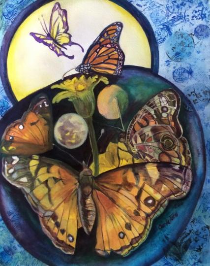 Butterflies in the moonlight