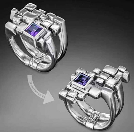 Multi form ice cube ring