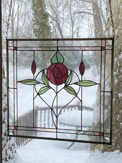 Cranberry Rose Panel