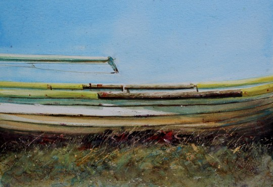 Boat by the sea