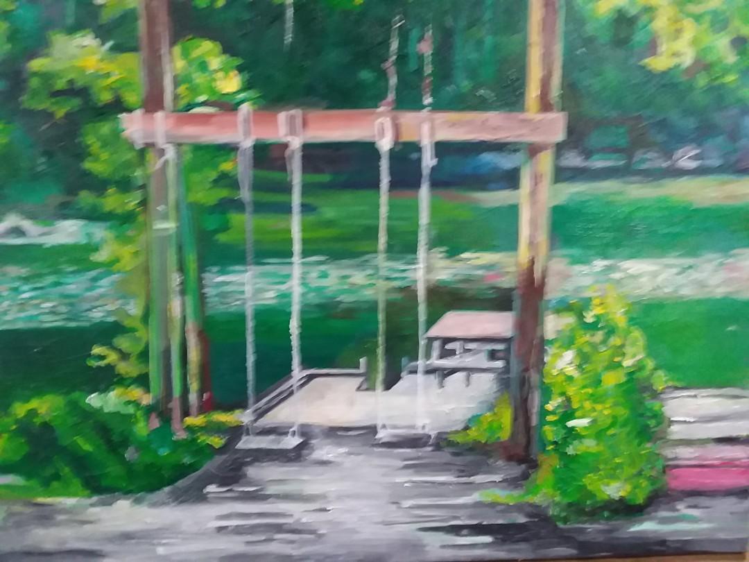 Peace - artwork by Rebecca Perry:  Landscape, Impressionism, Oil, Canvas