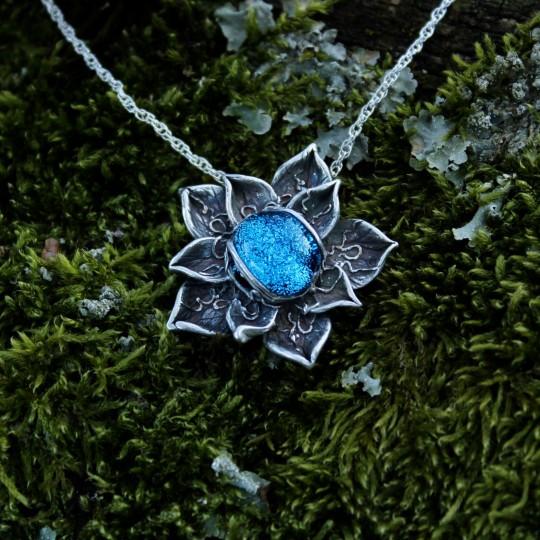 Delphinium Blue Pendant