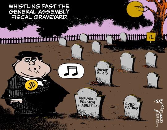 JB in graveyard