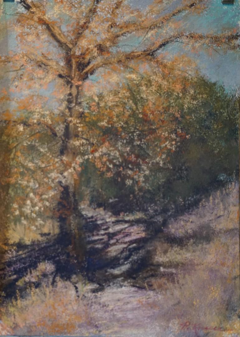 Untitled - artwork by Paul Kneece:  Landscape, Impressionism, Pastels, Pastel Sandpaper