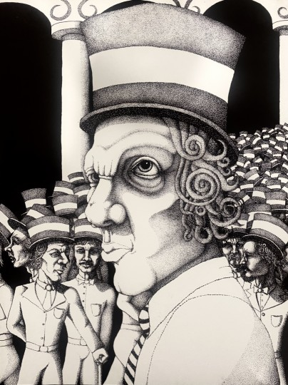 Top Hat Crowd of Dots