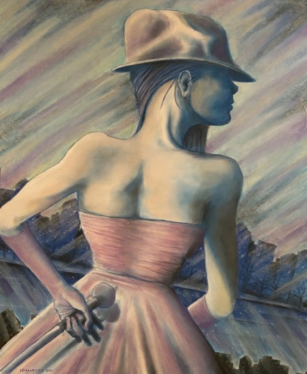 Woman Overlooking the City